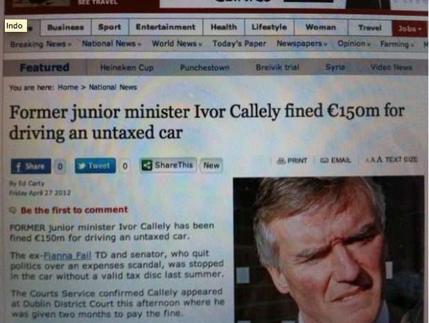 Must have been Fine Gael judge.