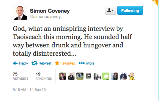 Simon tweet